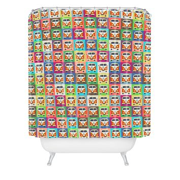 Sharon Turner Peace Campers Shower Curtain