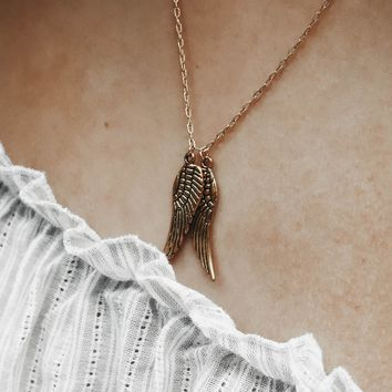 Angel Wings Dainty Gold Filled Necklace - Modern - Gift for Her