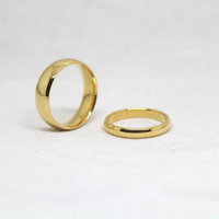 2pcs-Free Engraving,gold rings, promise ring,couple Rings,ring for couples
