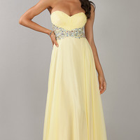Floor Length Stapless Sweetheart Dress