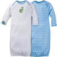 Gerber Newborn Baby Boy Lap Shoulder Gowns, 2-Pack - Walmart.com