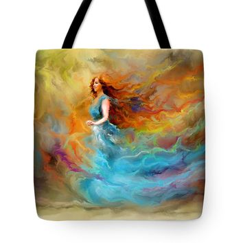 "Fire Dancer Tote Bag 18"" x 18"""