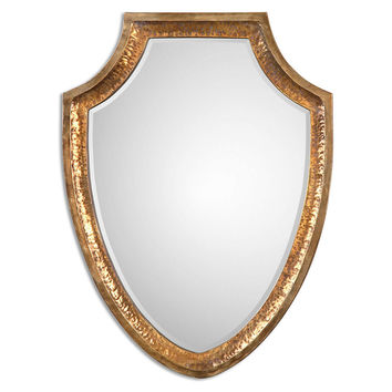 Mirrors, Mowbray Wall Mirror, Antiqued Gold, Wall Mirrors