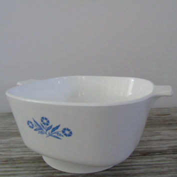 Corning Ware Blue Cornflower Pattern Grandma's Owenwear 2.5 Quart Square Baking Dish P- 2.5- B USA , No Lid