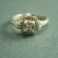 Elegant Edwardian Diamond Ring by CourtneyBache on Etsy