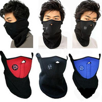 Unisex Masked cap Windproof Warm Harf Face Mask Winter Snowboard Ski Mask Ride Bike Motorcycle Cap  Neck Warm CS Mask