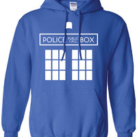 Doctor Who Police public call box Tardis dr. Printed hooded hoodie sweater Mens Ladies Womens Youth Kids Funny british custom design DT-075H