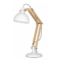 Sleuth Table Lamp: White