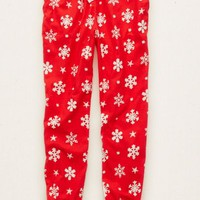 Aerie Women's Flannel Sleep Jogger (Red)