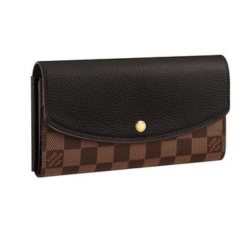 DCCK Louis Vuitton Damier Canvas Normandy Wallet Noir Article:N61261 Made in France