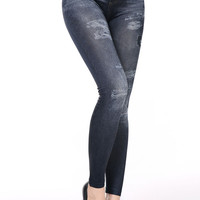 Jeans Look Women In Stretch Leggings