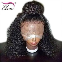 Elva Hair Lace Front Human Hair Wigs For Black Women Brazilian Water Wave Remy Hair Wigs 14-24'' Pre Plucked Hairline Baby Hair