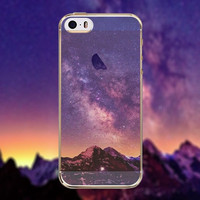 Beautiful Purple Mountains Clouds Transparent Soft TPU Crystal Phone Cover Case Shell For Apple iPhone 6 6s