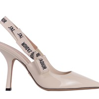 Dior Womens Ivory Patent Leather J'Adior Slingback Pumps