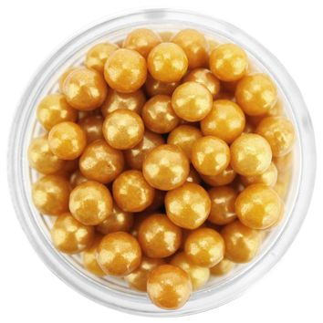 Pearly Gold Sugar Pearls 5MM