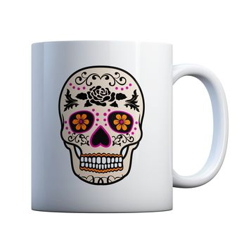 Day Of The Dead Sugar Skull 11 oz Coffee Mug Ceramic Coffee and Tea Cup