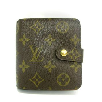 LOUIS VUITTON Compact Zip Bifold Wallet Monogram Leather M61667