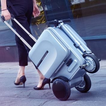 Electric Luxurious Travel Suitcase Intelligent Carry on - Can be Riding suitcase