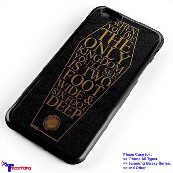 Bring Me The Horizon Coffin The House Quote Lyric - Personalized iPhone 7 Case, iPhone 6/6S Plus, 5 5S SE, 7S Plus, Samsung Galaxy S5 S6 S7 S8 Case, and Other