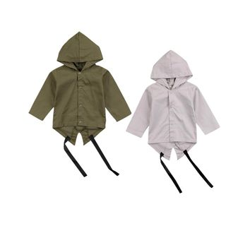 2018 Hot Newborn Boy Autumn Spring Clothes Baby Boy Kids Long Sleeves Hooded Jacket Hate Hoodies Coat Outwear