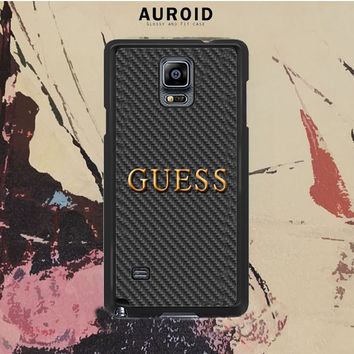Guess Watches Logo Carbon Samsung Galaxy Note 4 Case Auroid