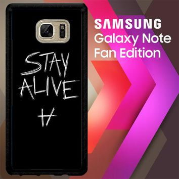 Twenty One Pilots Stay Alive X4419 Samsung Galaxy Note FE Fan Edition Case