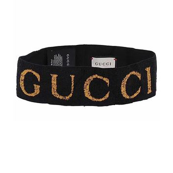 Gucci yoga sweat headband with red star with the beam Black