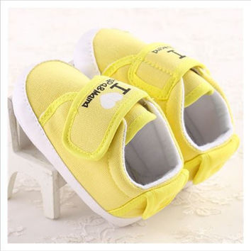 Baby Unisex Velcro Shoes 3 Color Avail