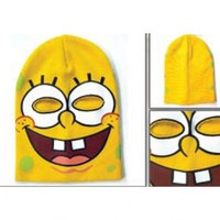 Spongebob Square Pants Yellow Adult Ski Mask Beanie Cap