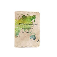 Adventure Awaits Customized Cute Leather Passport Holder - Passport Protector - Passport Covers - Passport Wallet_SUPERTRAMPshop