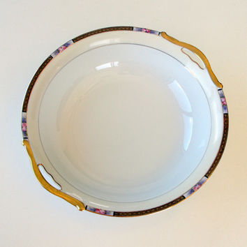 Vintage Noritake Bowl Chanossa Hand Painted Porcelain White 1930's