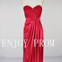 A-line Sweetheart Elastic silk-like stain floor-Length Bridesmaid/Evening/Prom Dress