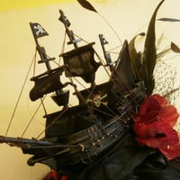 Pirate Black Gothic Galleon Ship Fascinator by ProfMaelstromme