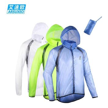 2017 ARSUXEO Winter Outdoor Sports ropa ciclismo Waterproof Windproof Pack Rain Cycling Bike Bicycle Running Jacket Coat Jersey