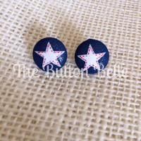 Land of the Free Cover Button Earrings