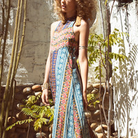moonfire dress blue moroccan rose