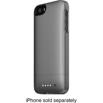 mophie - juice pack helium Charging Case for Apple® iPhone® SE, 5s and 5 - Gunmetal Black