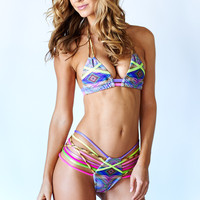 Montce Swim - Mixed Media | Multi String Bikini Set