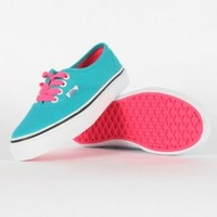 Vans - Youth K Authentic Shoes In Pop Lace/Blue Bird:Amazon:Shoes