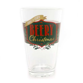Tabletop HOLIDAY CHEER PINT GLASSES Beer Christmas Frosty Cold 2020160683 Beery