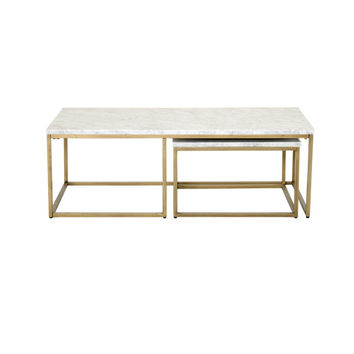 Carrera Nesting Coffee White Marble / Brushed Gold