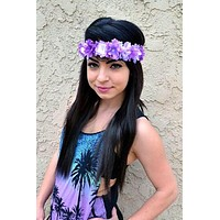 Purple Flower Headband #C1010