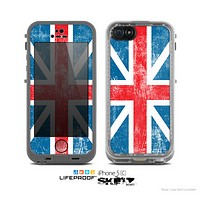 The Scratched Surface London England Flag Skin for the Apple iPhone 5c LifeProof Case