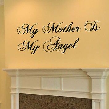 My Angel Mother quote wall sticker quote decal wall art decor 6128