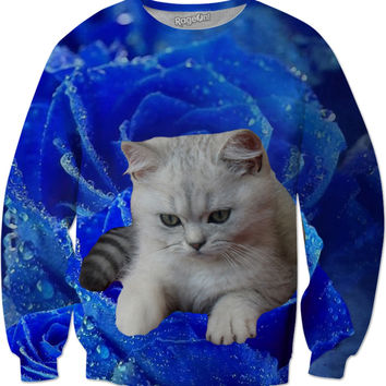 Cat and Rose Sweatshirt