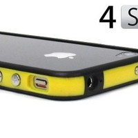 Yellow and Black Premium Bumper Case for Apple® iPhone® 4S / 4 - (AT&T, Verizon, Sprint)