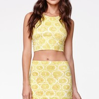 Motel Rocks Kimmy Skirt - Womens Skirt - Yellow