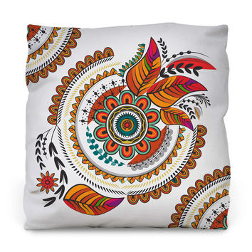 Autumn Mandala Throw Pillow
