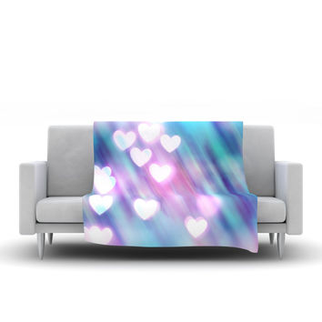 "Beth Engel ""Your Love is Sweet Like Candy"" Heart Fleece Throw Blanket"