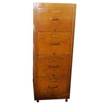 Pre-owned Vintage Globe-Wernicke 4-Drawer File Cabinet
